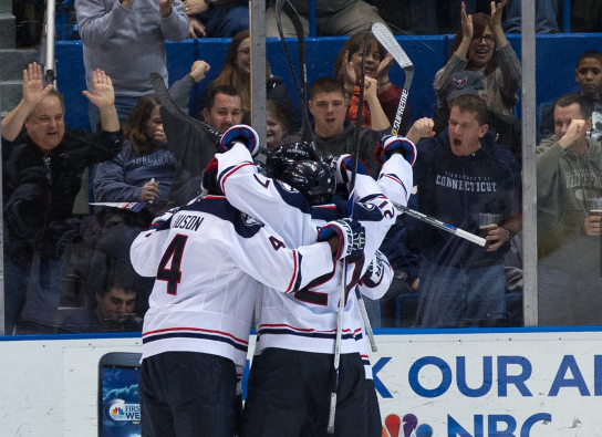 UConn Celebrates Tyson's Goal Vs. Maine