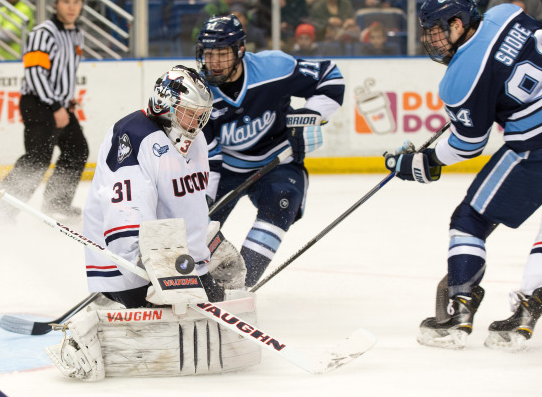 Robby Nichols Making A Save Vs. Maine